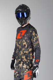 orange motocross gear oneindustries atom digital camo charcoral motocross jersey now 50