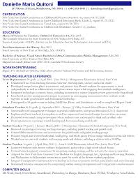 Teacher Resume Examples 2013 by Sample Preschool Teacher Resume Resume Cv Cover Letter Sample