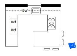 kitchen floorplan open plan g shaped kitchen jpg