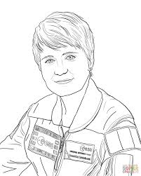 astronaut samantha cristoforetti coloring page free printable