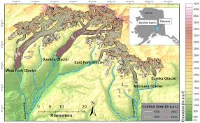 Alaska Usa Map by Remote Sensing Free Full Text Glacier Changes In The Susitna