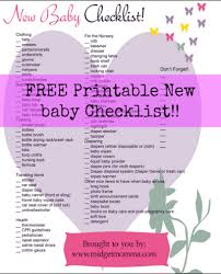 baby needs free baby needs printable check list midgetmomma