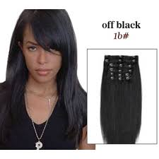 14 inch hair extensions 16 inches 7pcs clip on real hair extensions 1b black
