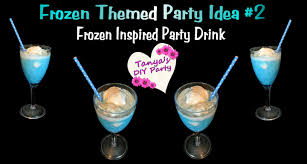 halloween party alcoholic drinks frozen inspired blue party drink frozen themed party idea 2