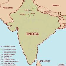 India On A World Map by Northern India Birding Trip Report By Jos Wanten