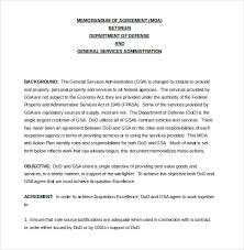 12 memorandum of agreement templates u2013 free sample example