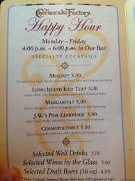 the cheesecake factory happy hour are you a or a mouse