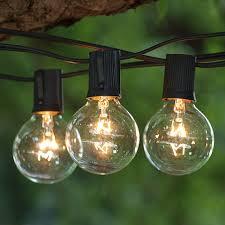 c9 incandescent light strings 25 ft black commercial c9 string light led g40 premium warm white