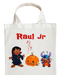 lilo and stitch trick or treat bag personalized lilo and stitch