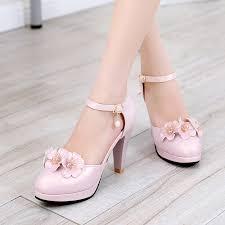 wedding shoes thick heel arrive sweet women pumps shoes thick heel shoes woman 2017 high