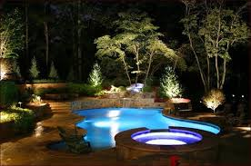 Backyard Landscape Lighting Ideas - pool landscape lighting ideas home design ideas