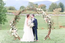 wedding arches rental virginia arbor emmy jake say i do at veritas vineyard