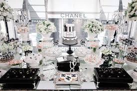 Chanel Party Decorations Chanel Luxury Birthday Party Ideas Photo 1 Of 29 Catch My Party