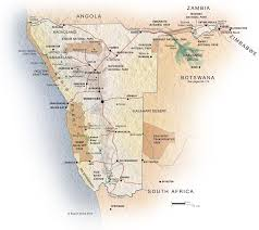 africa map kalahari desert 15 best namibia images on road maps road routes and roads