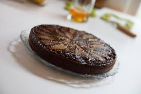 flourless chocolate cake with spiced pears recipe u2014 dishmaps
