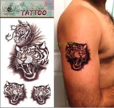 waterproof temporary sticker wittmann tiger tattoos for