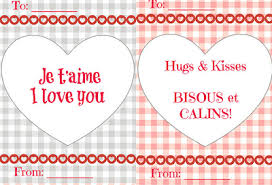 free french valentine u0027s day cards for kids