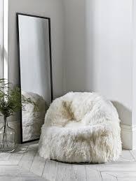 sumptuous sheepskin beanbag ivory
