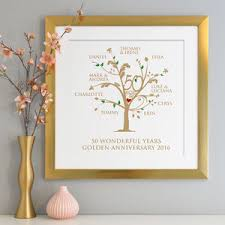 golden anniversary gift ideas golden 50th wedding annivesary gifts and ideas
