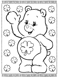 animal care bear printables fish coloring pages butterfly