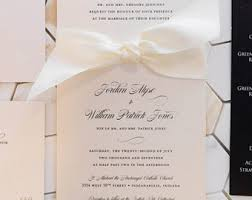 wedding invitations with ribbon invitation ribbon etsy