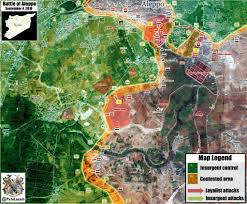 Syria Battle Map by Battle Of Aleppo U2013 Syria Maps