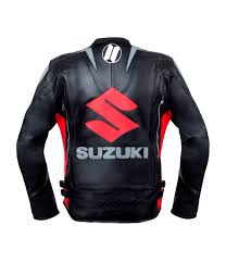gsxr riding jacket amazon com suzuki black motorcycle racing leather jacket m eu50