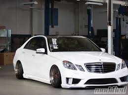 bagged mercedes wagon 2010 mercedes benz e350 sedan east meets west modified magazine