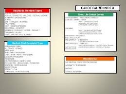 card for sick person emergency dispatch guidecards ppt