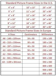 best 25 standard picture frame sizes ideas on