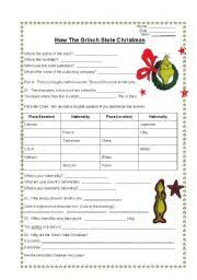 english teaching worksheets how the grinch stole christmas