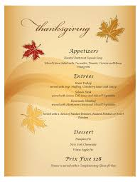 our thanksgiving prix fixe menu bakerstreet