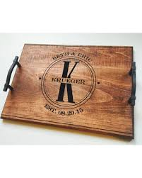 wooden wedding gifts amazing deal wood engraved serving tray custom wedding gift