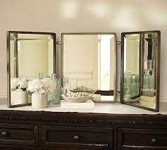 Tri Fold Mirrors Bathroom Tri Fold Vanity Mirror Ballard Designs