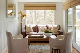 accent chairs for brown leather sofa cape cod renovation beach style sunroom boston by kelly