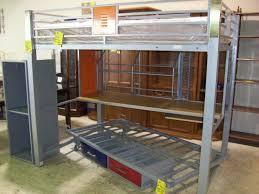 Metal Frame Loft Bed With Desk Bedroom Appealing Metal Full Loft Bed With Desk Black Twin Frame