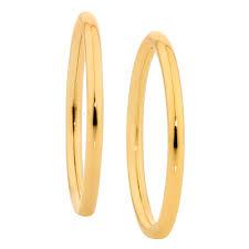 gold sleeper earrings 12mm sleeper earrings in 10kt yellow gold