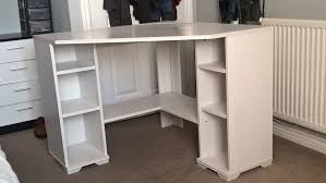 White Corner Workstation Desk Beautiful White Corner Desk Thedigitalhandshake Furniture