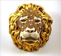 lion mask venetian lion mask macrame gold visions of venice