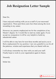 resignation letter sle format template exle