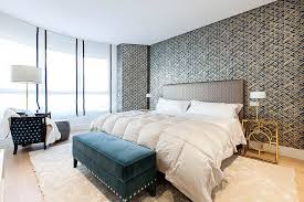 Gold Bedside Table Bedrooms Eclectic Modern Bedroom With White Modern Bed And
