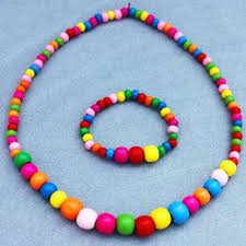 wood beads necklace designs images Wholesale design colourful wooden bead cute necklace bracelet jpg
