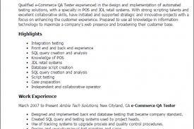 resume sample for qa tester qa sample quality assurance wellness