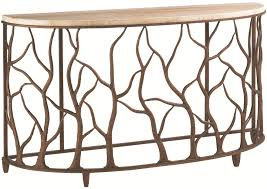 road to canberra demilune bannister garden console table with