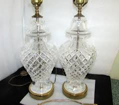 Waterford Table Lamps Pair 2 Waterford Crystal Ginger Jar Table Lamps 28