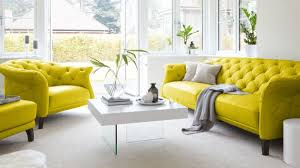 Butter Yellow Sofa Modern Leather Chesterfield Sofa Uk Brokeasshome Com