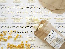 diy mini popcorn favor bags gift favor ideas from evermine