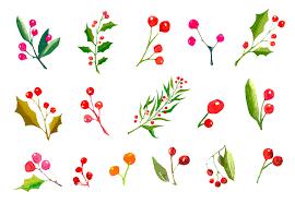 christmas watercolor bundle illustrations creative market