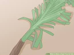 5 easy ways to make a paper tree for wikihow