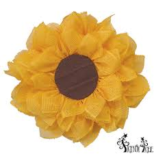 deco paper mesh sunflower wreath tutorial trendy tree decor